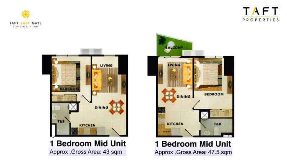 1 Bedroom Mid Unit