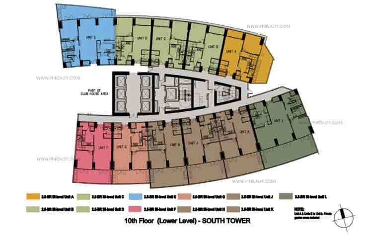 10th Floor Lower Level Plan