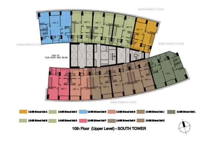 10th Floor Upper Level Plan