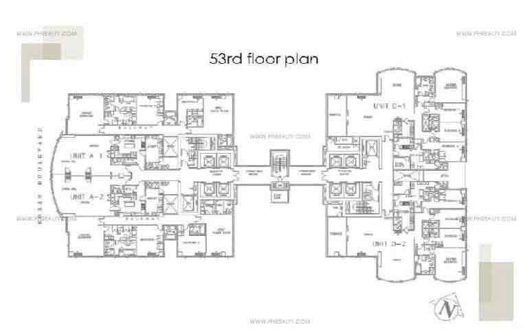 53rd Floor Plan