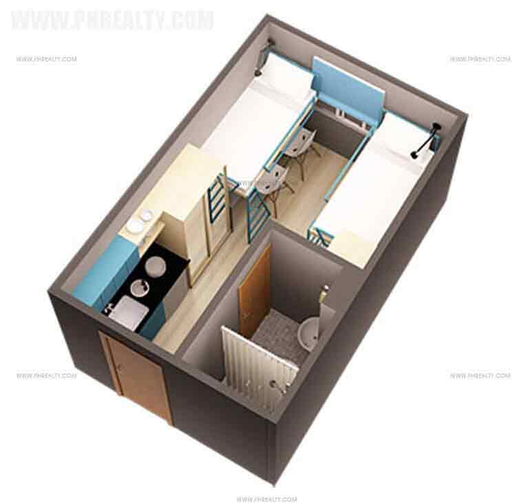 14 sqm unit layout
