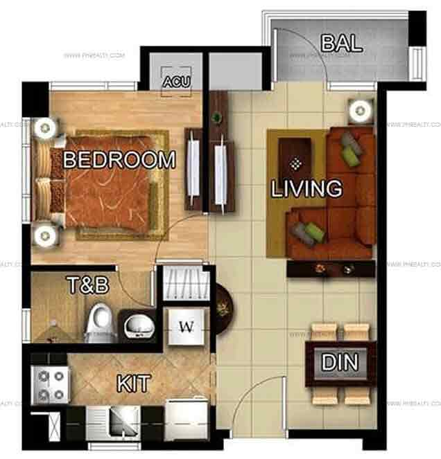 Wing A 1 Bedroom