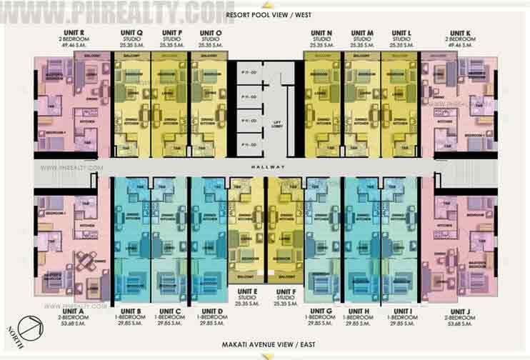 16th - 21st Floor Plan