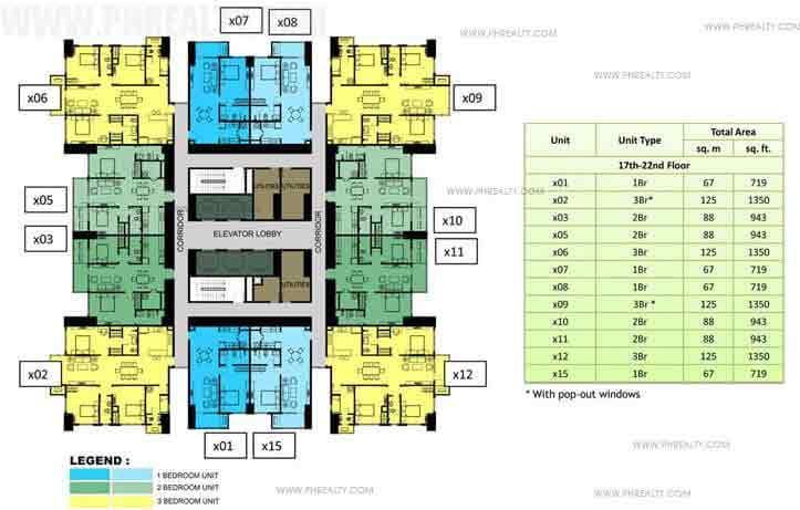 17th to 22nd Floor Plan (30x30)