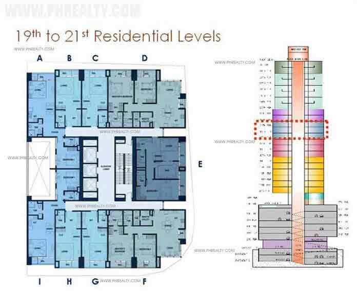 19th to 21st Residential Levels