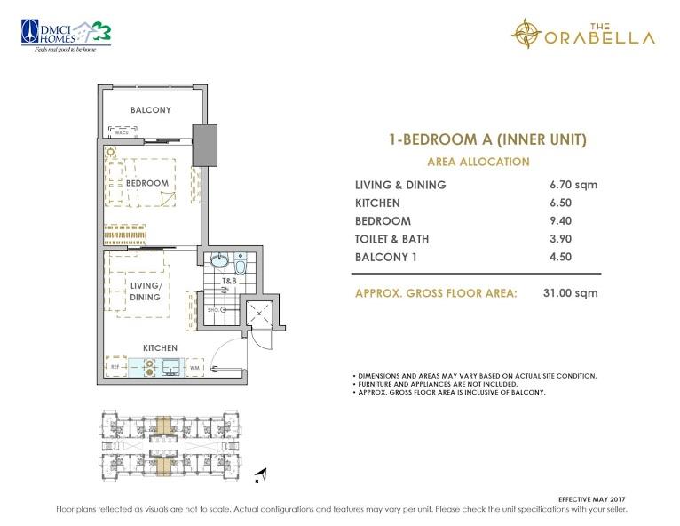 1 - Bedroom A ( Inner Unit )