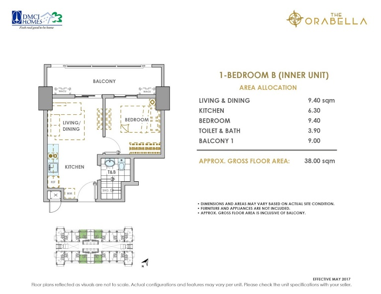 1 - Bedroom B ( Inner Unit )