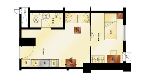 1 - Bedroom Floor Plan