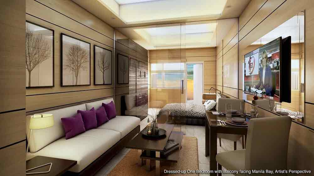 1 - Bedroom with Balcony Facing Manila Bay