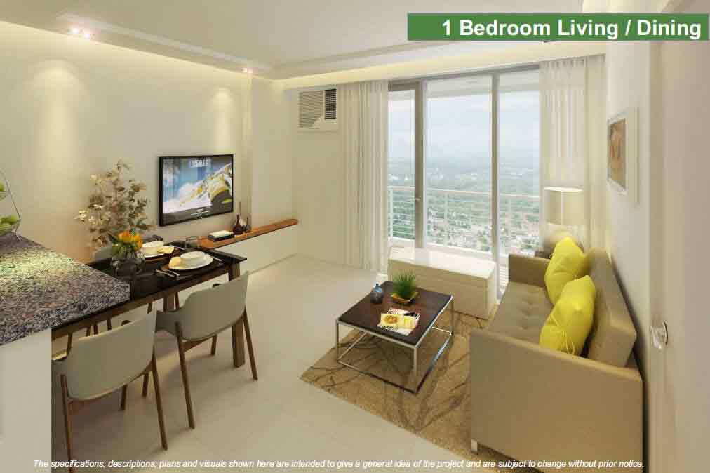 1 BR - Living and Dining Area