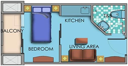 1 Bedroom Area