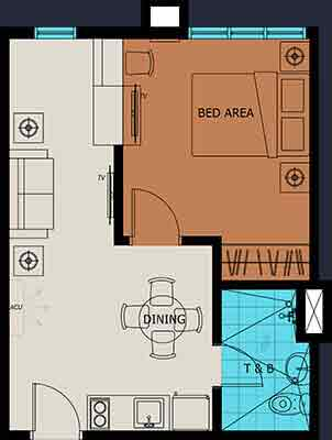 1 Bedroom Unit Plan