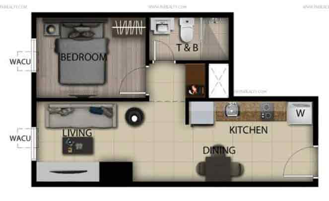 1 Bedroom Loft Unit B,M,P,A