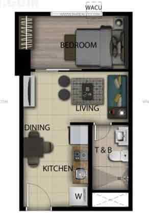 1 Bedroom Loft Unit G,H,V,U