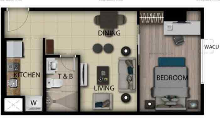 1 Bedroom Loft Unit N,O