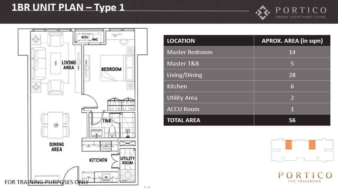 One Bedroom Unit Plan