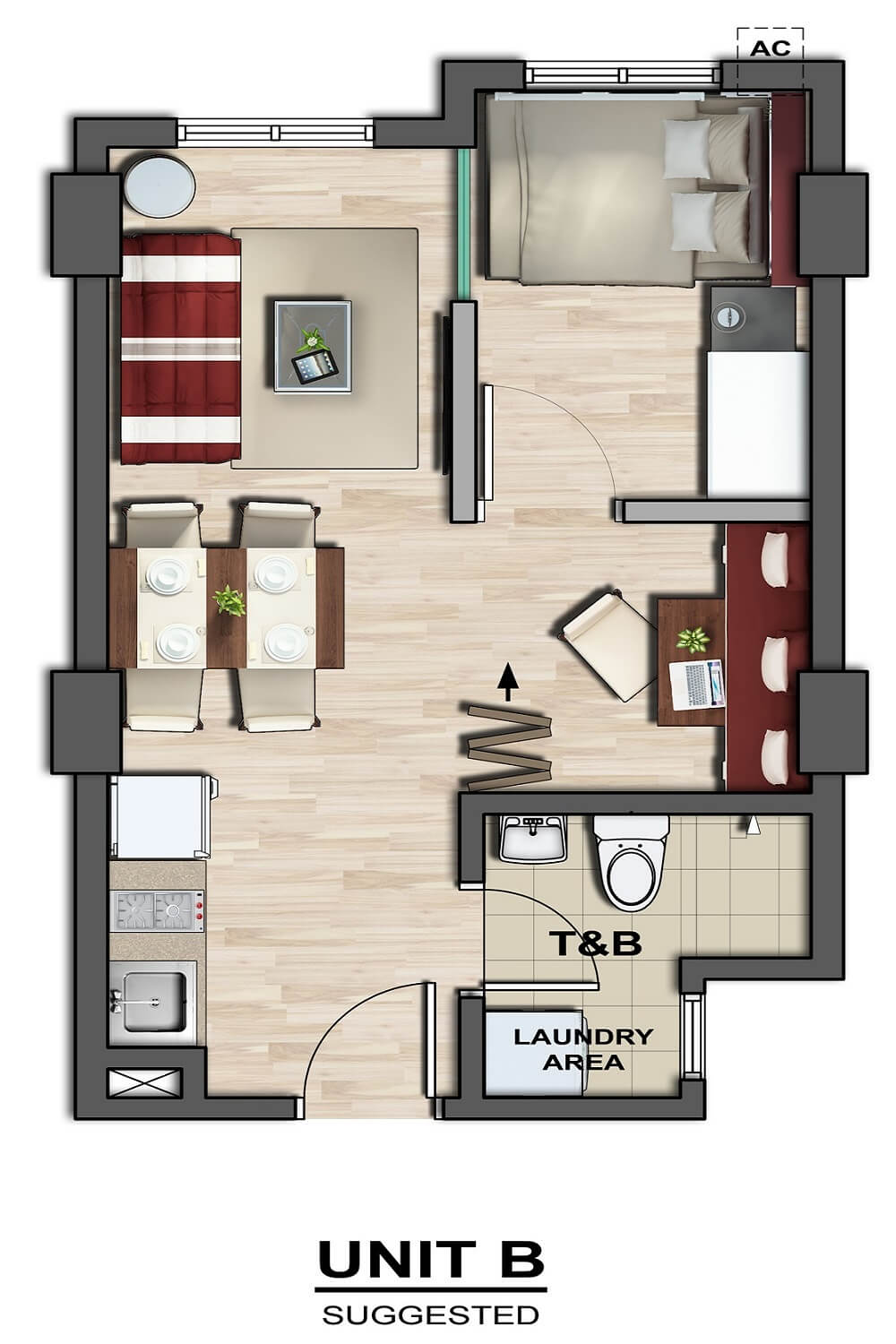 1 Bedroom without Balcony