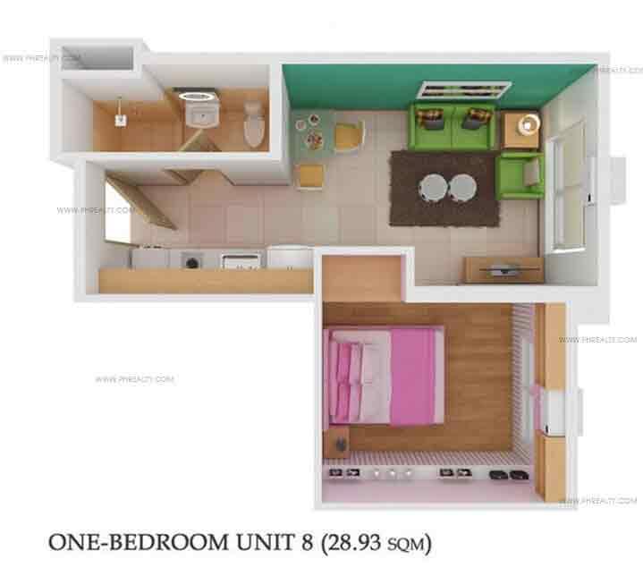 1 Bedroom Unit 8
