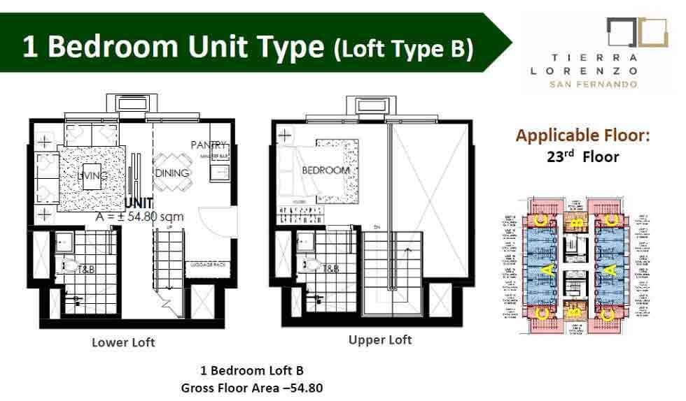 1 Bedroom Unit - Type B