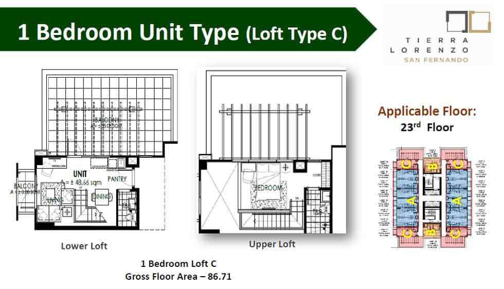 1 Bedroom Unit - Type C