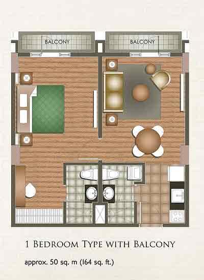 1 Bedroom Type with Balcony