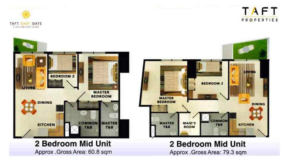 2 Bedroom Mid Unit