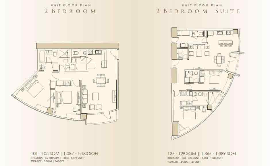 2 Bedroom / 2 Bedroom Suite