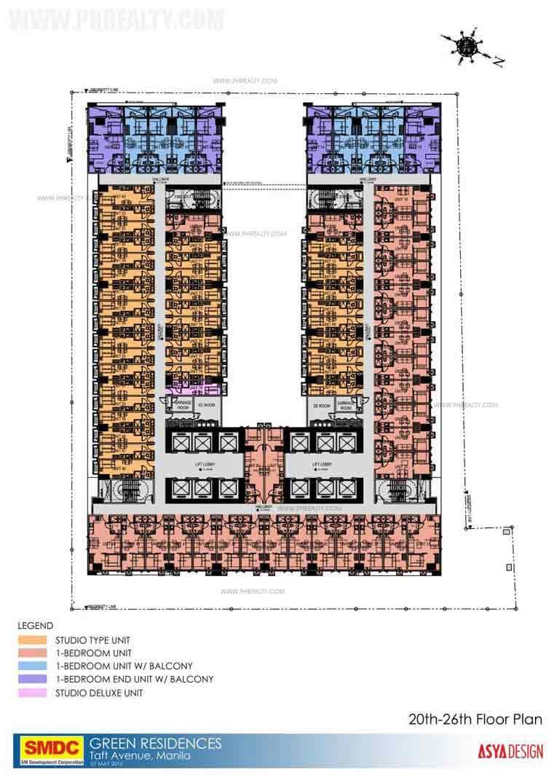 20th-26th Floor Plan