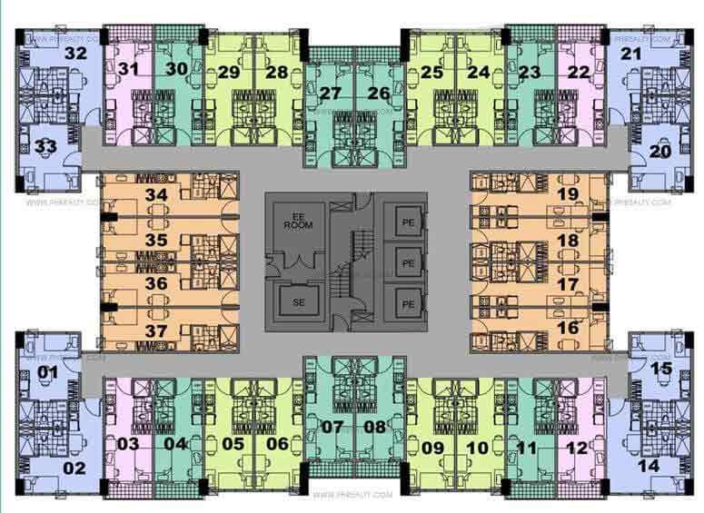 22nd- 25th Floor