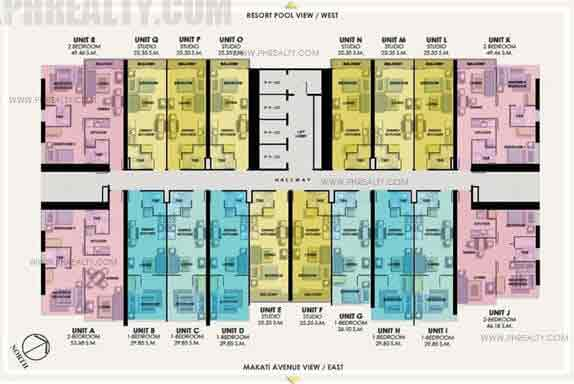 22nd - 25th Floor Plan