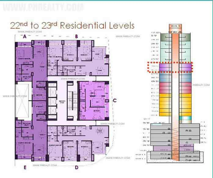 22nd to 23rd Residential Levels