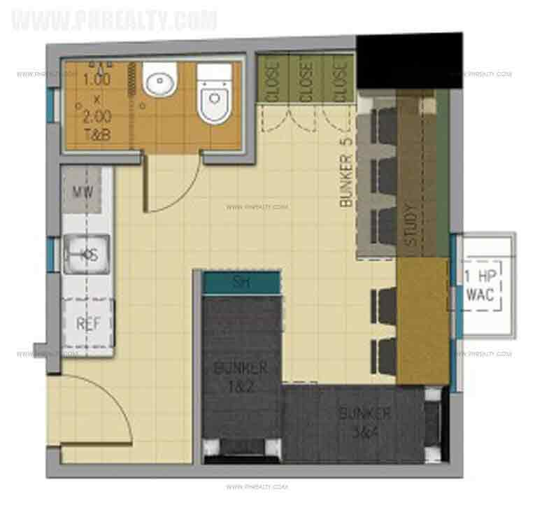 23 sqm unit layout