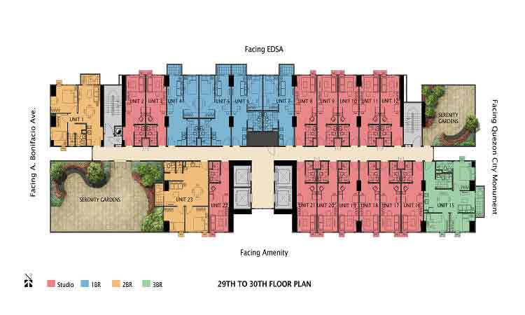 29th To 30th Floor Plan