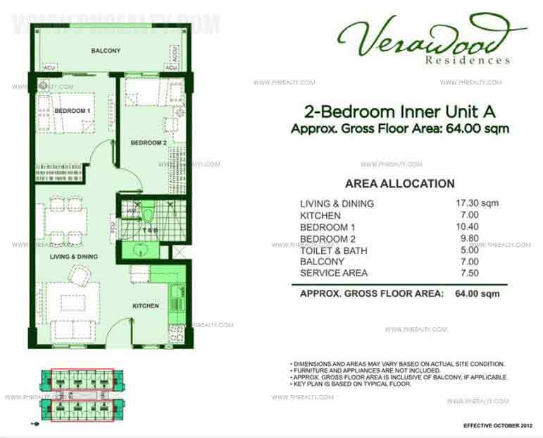 2 Bedroom Inner Unit A