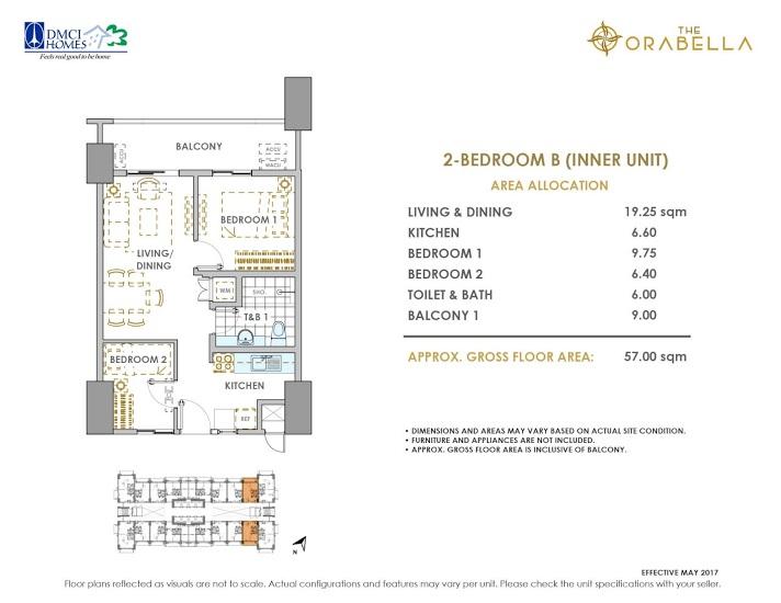 2 - Bedroom B ( Inner Unit )