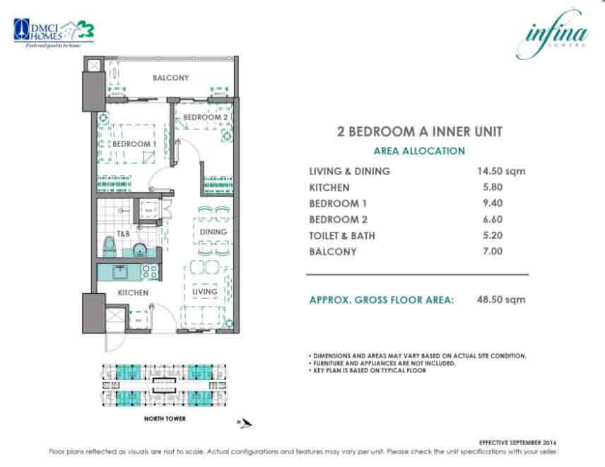 2 Bedroom - A Inner Unit