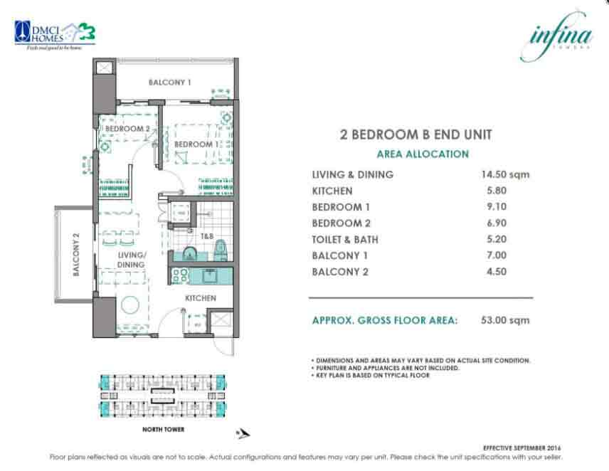 2 Bedroom - B End Unit