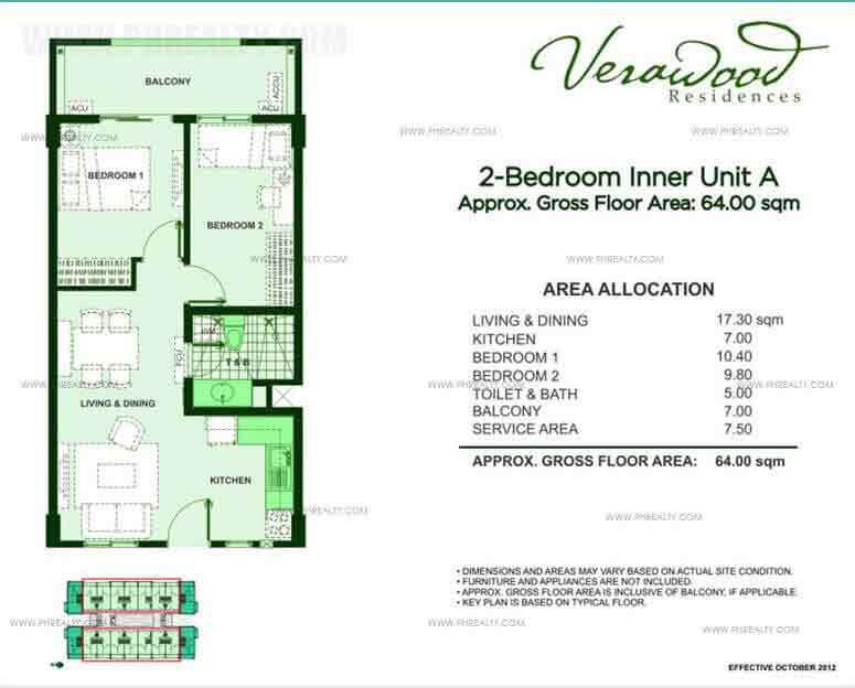 2 Bedroom Inner Unit A