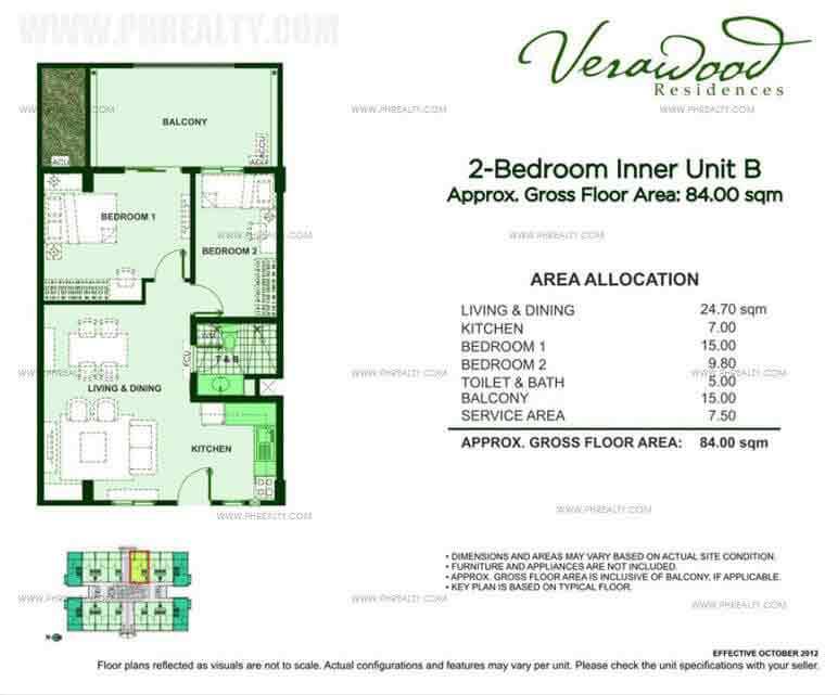 2 Bedroom Inner Unit B