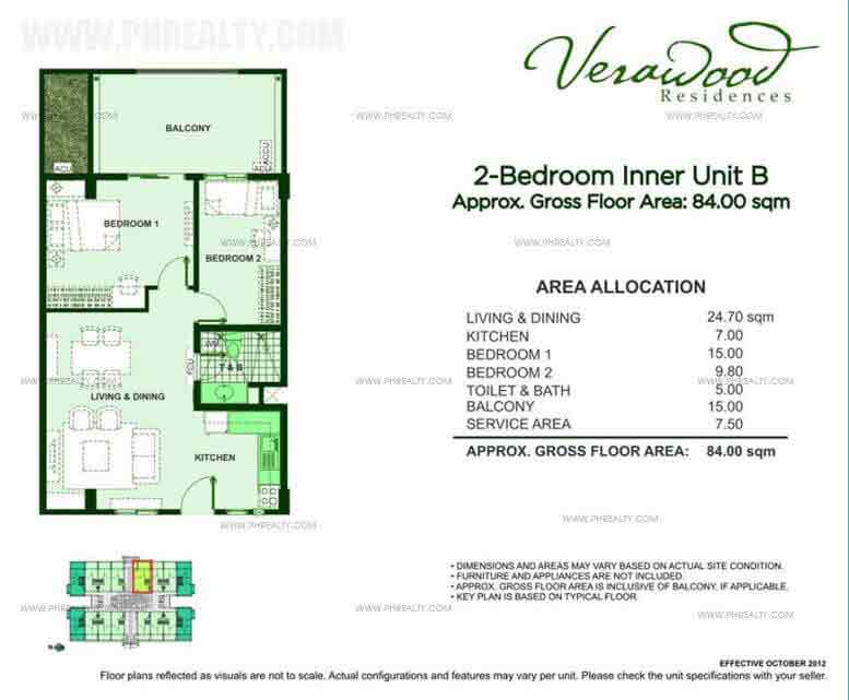 2 Bedroom Inner Unit B
