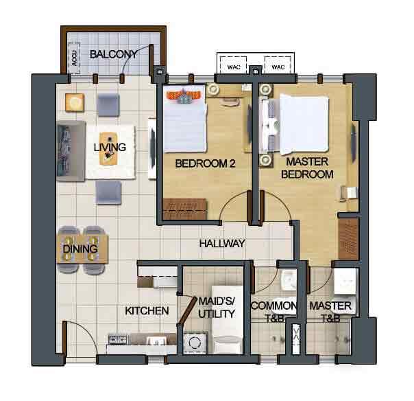 2 Bedroom Prime