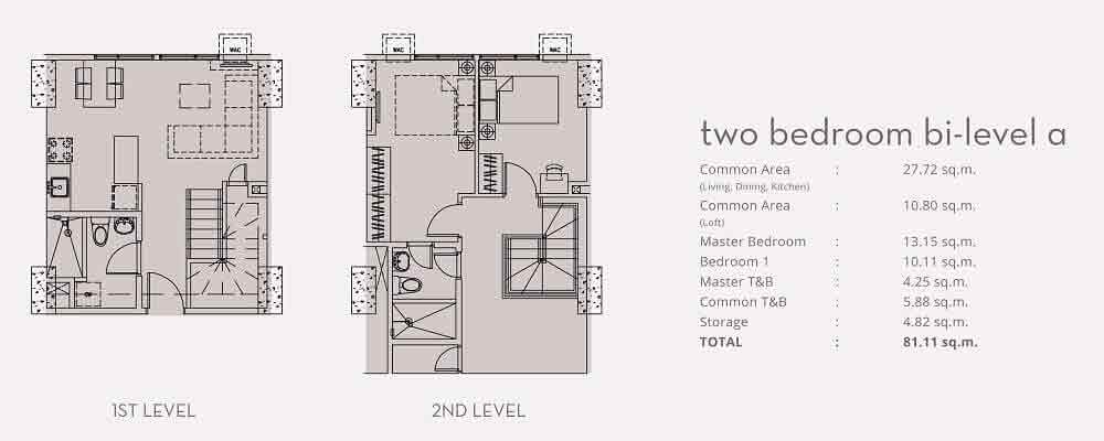 Two Bedroom Bi - Level A