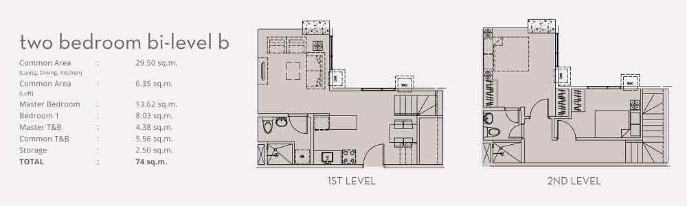 Two Bedroom Bi - Level B