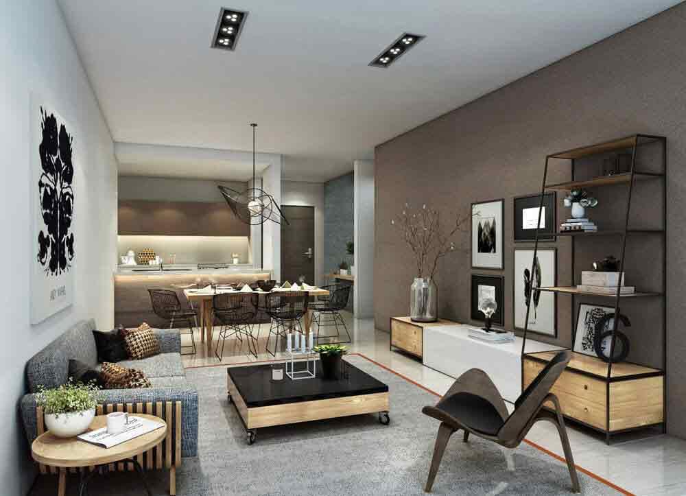 2 Bedroom Glass Suite - Living Area