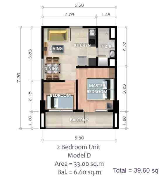 2 Bedroom Unit - Model D