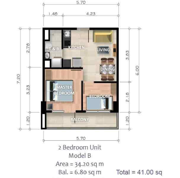 2 Bedroom Unit - Model B