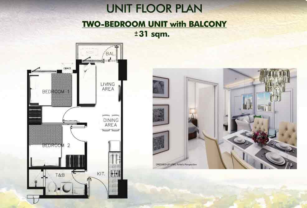 Two Bedroom Unit with Balcony