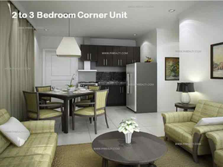 2 to 3 Bedroom Corner Unit