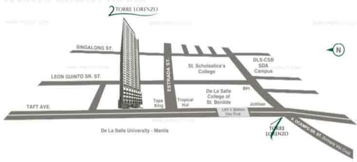 2 Torre Lorenzo Location