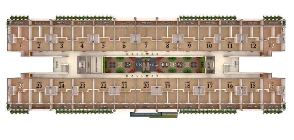 Typical Floor Plan - 2nd - 5th Floor